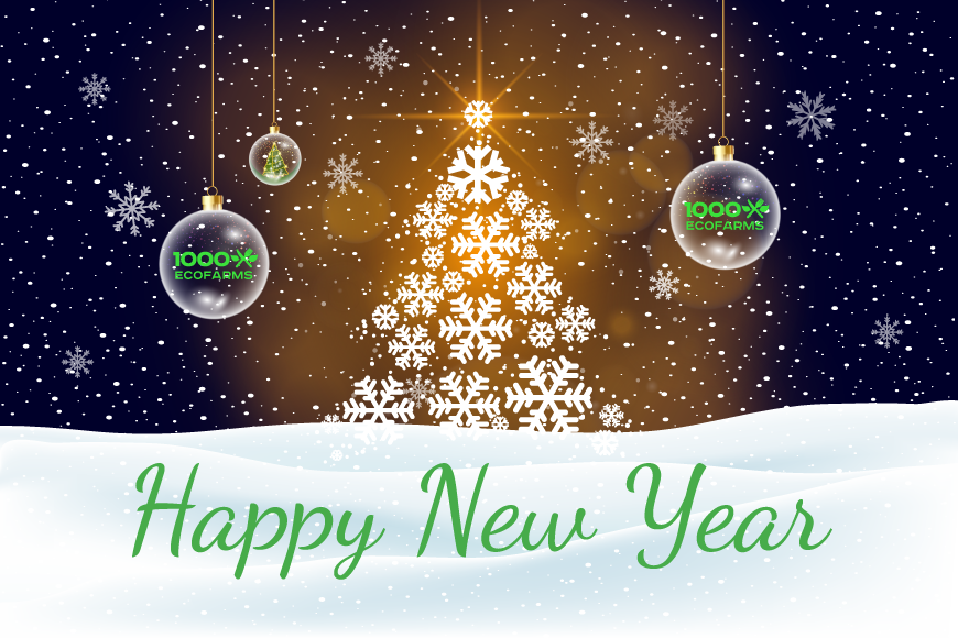 1000Ecofarms wishes you a Merry Christmas and a Happy New Year!