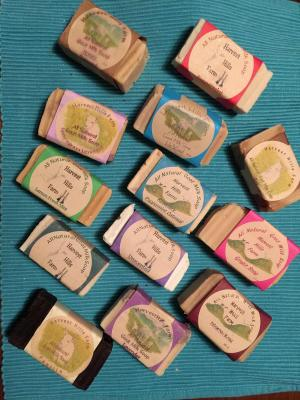 All Natural Goat Milk Soap - Peppermint Rosemary