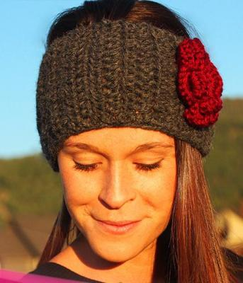 ALPACA HEADBAND WITH FLOWER