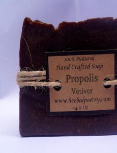100% Natural Propolis - Vetiver Body Soap
