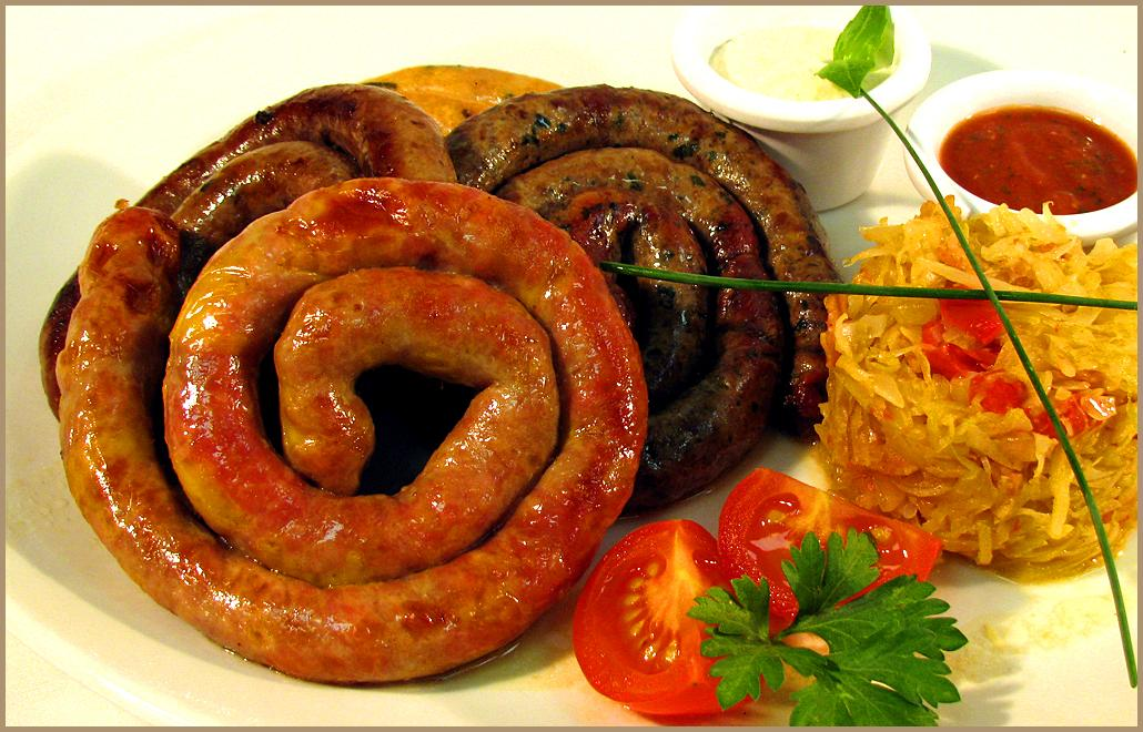 Рецепт блюда из домашней колбасы