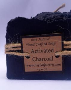 100% Natural Activated Charcoal Face and Body Soap