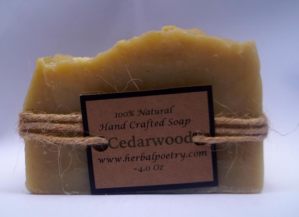 100% Natural Cedarwood Face and Body Soap