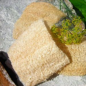 All Natural Hand Trimmed Facial Size Loofah Cleansing Pads
