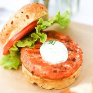 Spicy Sockeye Salmon Burger