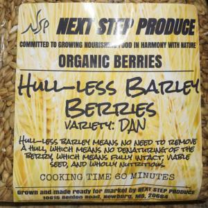 Barley Berries--Hulless. Multiple product options available: 5