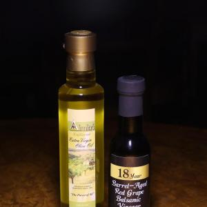 Olive oil and balsamic sample combo