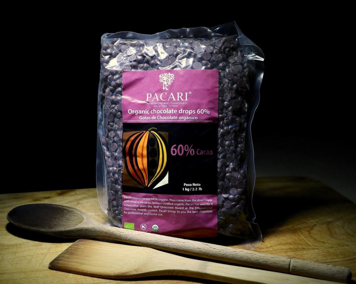 Pacari 60% Dark Chocolate Bulk Chips