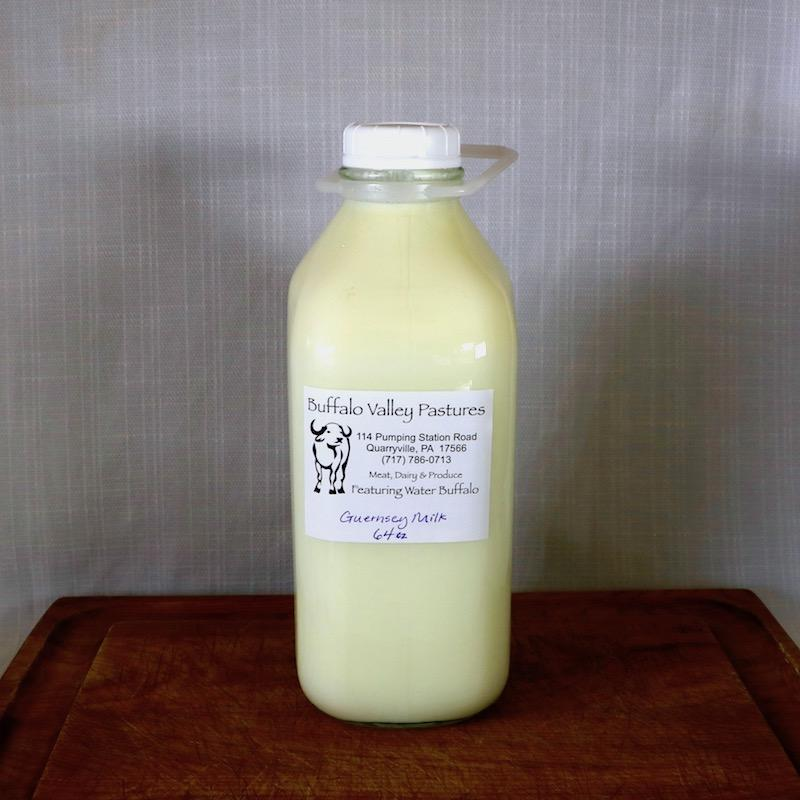 A2/A2 Guernsey Cow Milk - Raw (in glass)