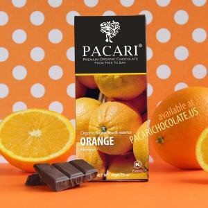Pacari Chocolate Orange Chocolate bar