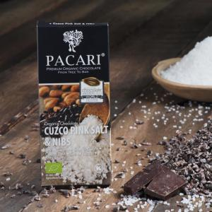 Pacari Chocolate Salt and Nibs Chocolate Bar