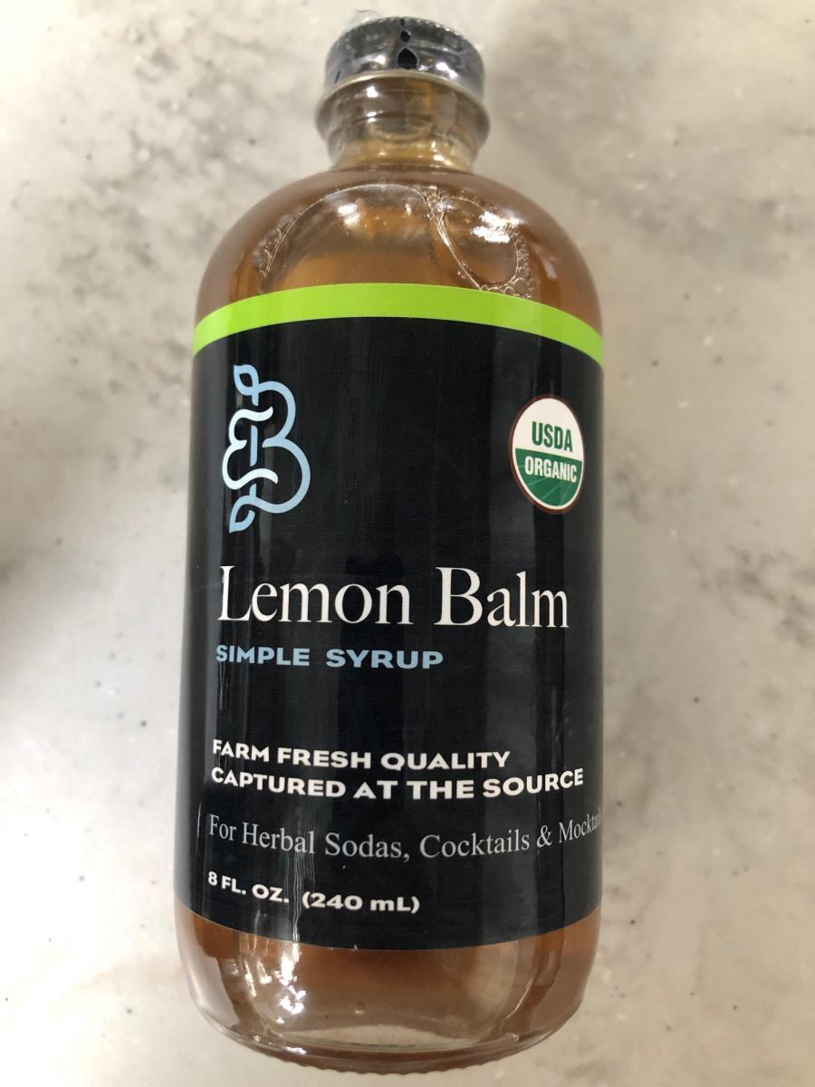 Lemon Balm Botanical Simple Syrup